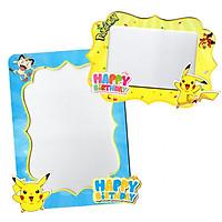 Combo 2 khung hình giấy để bàn trang trí sinh nhật - pokemon