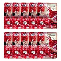 Combo 10 Gói Mặt Nạ Chiết Xuất Lựu 3W Clinic Fresh Pomeranate Mask Sheet (23ml x 10)