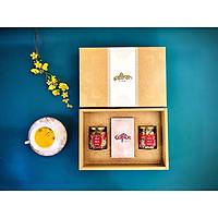 Set quà Tết Nhụy hoa Nghệ Tây Jahan 1gr tặng kèm hoa cúc 10gr và hoa nhài 10gr