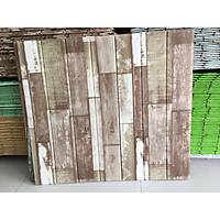Bộ 10 tấm Xốp dán tường 3D giả gỗ nhiều màu
