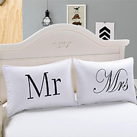 Simple MRS&MR Printing Couple Pillow Cases for Home Decoration Pillow Cover Pillowcases