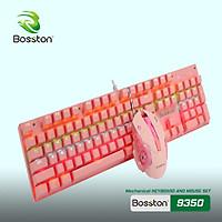 Bộ Phím Chuột Cơ Bosston EK9350 Màu Hồng (Pink) VT - Hàng Nhập Khẩu