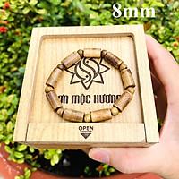 Vòng tay trầm hương tốc phong thủy trụ trúc 9 trụ 9 tròn nam nữ Sơn Mộc Hương mang lại may mắn, bình an và tài lộc cho người đeo