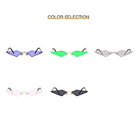 Alloy Fashion Sun Glasses Frameless Color Film Street Shot Metal Sunglasses