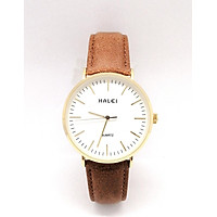 Đồng hồ Nam Halei  HL541 dây da cao cấp + Tặng Combo TẨY DA CHẾT APPLE WHITE PELLING GEL BEAUSKIN chính hãng
