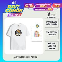 Áo Thun Phông Nam Tay Ngắn Cổ Tròn Unisex Phom Rộng Oversized ALONE BOY 100% Cotton Cao Cấp TUTO5 AT1006