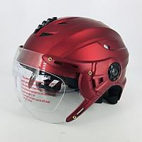 Mũ Bảo Hiểm Nửa Đầu Có Kính SRT A760K _ Thông Gió