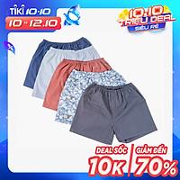 Combo 5 quần đùi nam Cotton mặc nhà thoải mái thoáng mát JAMANO- MÀU NGẪU NHIÊN