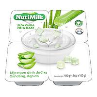 NutiMilk Lốc 4 Hộp Sữa chua Nha Đam L4.NSCNDTI Nutifood