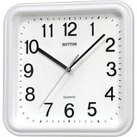 Đồng hồ treo tường Rhythm CMG450NR03, dùng pin,  vỏ nhựa, màu trắng, kích thước 25.0 x 25.0 x 4.5cm