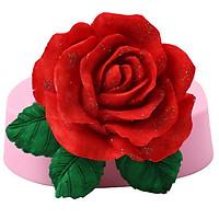 Khuôn rau câu silicon hoa hồng nhung