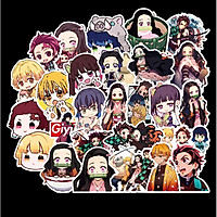 Sticker 50 miếng hình dán Thanh Gươm Diệt Quỷ SetC