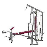 Giàn tạ đa năng BEN 502 - Đòn 1m8, 50kg tạ gang