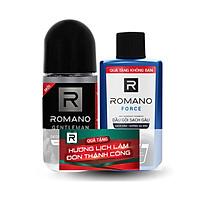Lăn khử mùi Romano Gentleman 50ml hương lôi cuốn & kháng khuẩn+Tặng kèm dầu gội sạch gàu Force 60gr