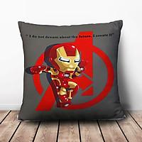 Gối Ôm Vuông Chibi Iron Man GVFF144 (36 x 36 cm)