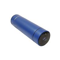Bình giữ nhiệt inox thông minh Bonnman có nhiệt kế 500ml xanh