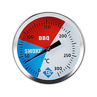 300 Degrees Thermometer BBQ Smoker Grill Stainless Steel Thermometers Temperature Gauge Barbecue Thermometer
