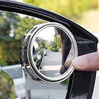 Gương cầu lồi xoay 360 độ có viền và không viền HT-1003 gắn gương chiếu hậu xe hơi ô tô xe máy loại cao cấp