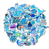 Bộ 49 miếng Sticker hình dán Blue Ocean