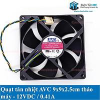 Quạt tản nhiệt AVC 9x9x2.5cm 12V 0.41A - Tháo máy