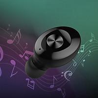Tai Nghe Bluetooth Không Dây Nhét Tai XG-12 Mini True Wireless Bluetooth 5.0 Dung Lượng 350mAh Màu Đen- Hàng Chính Hãng