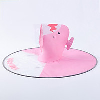 Kk tree kocotree children's net red saucer raincoat boys and girls poncho poncho baby umbrella cap KQ18302 pink shark M [recommended height 120-160cm]