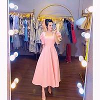 QUẢNG CHÂU Đầm dự tiệc cổ vuông THE BLUE DRESS  - size S/M/L/XL(kèm ảnh/video thật)MS211V bigsize công c