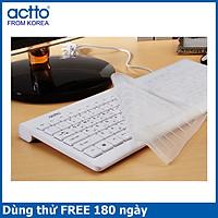 Bàn phím văn phòng Grain Keyboard Actto KBD-37 HÀNG CHÍNH HÃNG WHITE