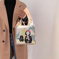 Túi cói mini đi biển nữ đẹp đi chơi thời trang dễ thương cute cá tính phong cách TV44