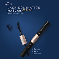 Mascara 2in1 làm dài và cong mi Vacosi Natural Lash Domination Pro 10g (Intensive Length & Lift)