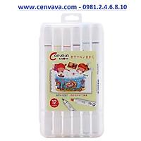 Bút lông 12 màu marker Cenvava - Mini 0901