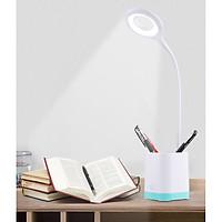 Đèn led để bàn cắm USB kiêm hộp đựng bút sang trọng, ĐỘ BỀN CAO (  Tặng kèm quạt cắm cổng USB )