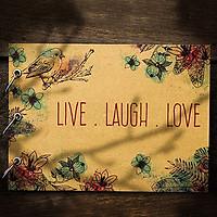 Album Ảnh Tự Trang Trí Live Laugh Love (19 x 26 cm)