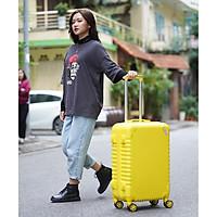 Vali kéo du lịch SUNNY SV05 size 24 - nhựa dẻo ABS, khóa số an toàn