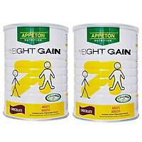 2 Lon Thức uống dinh dưỡng giúp tăng cân người lớn (hương chocolate) - APPETON WEIGHT GAIN ADULT (CHOCOLATE) - Hộp 900g