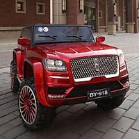 Ô tô xe điện siêu địa hình LINCOHN BY918 cỡ lớn 2 chỗ 4 động cơ lớn (Đỏ-Trắng-Xanh)