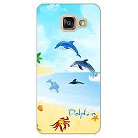 Ốp lưng dẻo cho Samsung Galaxy A3 2016 _Dolphins 01