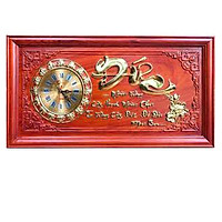 Đồng hồ gỗ hương chữ đức