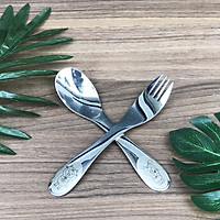 Bộ dao thìa nĩa tập ăn cho bé DandiHome inox 304 cao cấp - Có các lựa chọn