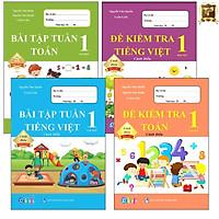 Sách - Combo Bài Tập Tuần và Đề Kiểm Tra lớp 1 - Toán và Tiếng Việt học kì 1 - Cánh diều (4 cuốn)