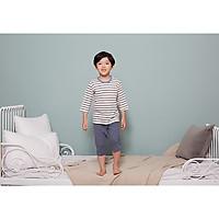 Bộ ngủ lửng cho bé Olomimi Hàn Quốc SS20 Stripe Blue   - 100% cotton
