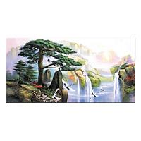 Tranh Treo Tường phong thủy TÙNG HẠC DIÊN NIÊN Q6D8 - 8 (30 x 60 cm) Thế Giới Tranh Đẹp