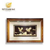 Tranh đại bàng tung cánh dát vàng (100x150cm) MT Gold Art- Hàng chính hãng, trang trí nhà cửa, phòng làm việc, quà tặng sếp, đối tác, khách hàng, tân gia, khai trương