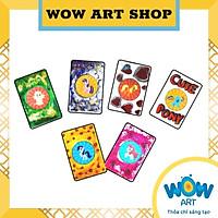 Hộp thủ công thẻ luyện trí nhớ WOW ART kit 6, bé 5+, giúp bé rèn luyện khả năng ghi nhớ, óc quan sát và tư duy phản xạ