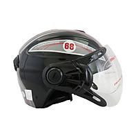 Mũ bảo hiểm nửa đầu có kính chính hãng BKtec non bảo hiểm cao cấp
