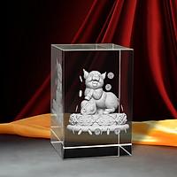 Tượng 3D Con Heo (Hợi) - Trang Trí Xe Ô tô/ Bàn Làm Việc - Bằng Pha Lê