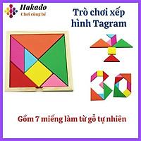 Đồ chơi xếp hình Tangram bằng gỗ - kích thước 12.1x12.1