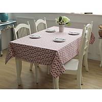 Khăn trải bàn vải bố thô hoa tím
