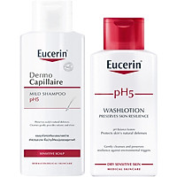 Bộ Sản Phẩm Chăm Sóc Tóc Và Cơ Thể Eucerin (Sữa Tắm Eucerin, Dầu Gội Eucerin)