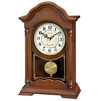 Đồng hồ để bàn Nhật Bản Rhythm CRJ756NR06 - Kt 21.2 x 34.3 x 10.8cm, 1.56kg Vỏ gỗ dùng PIN.